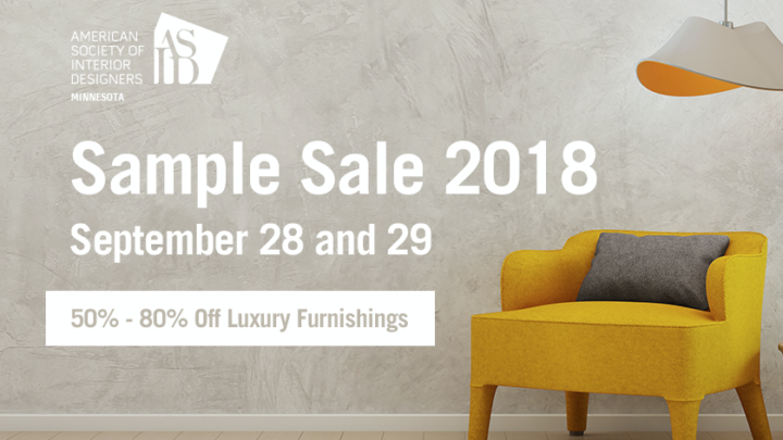 ASID MN Hosts Annual Sample Sale September 28th and 29th